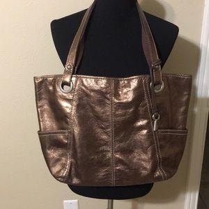 Fossil Large Golden Brown Handbag